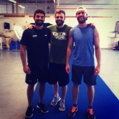 Jay Field and the boys at CrossFit Toronto